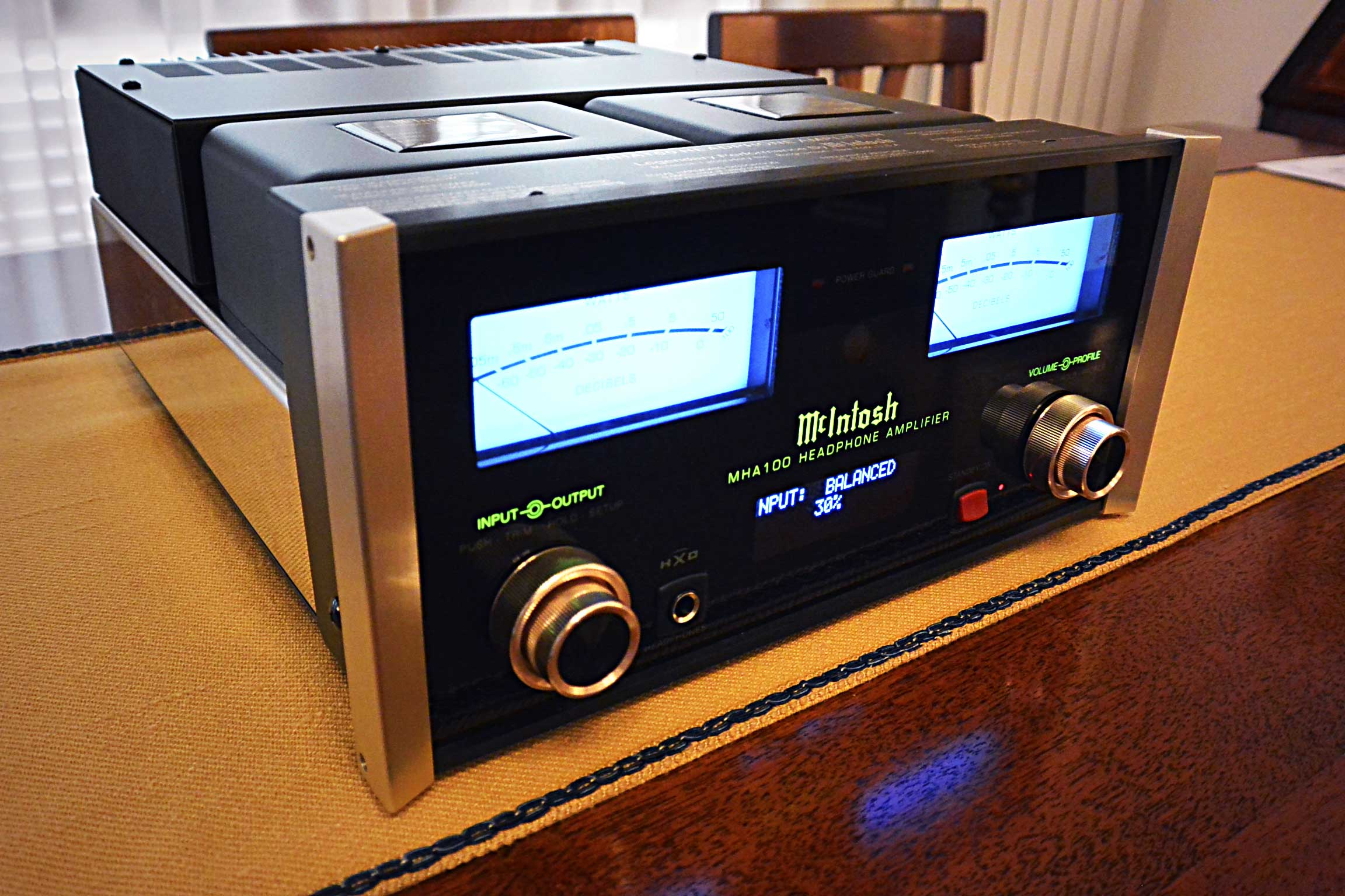 McIntosh MHA100 three quarter view