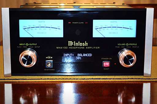 McIntosh MHA100 front view